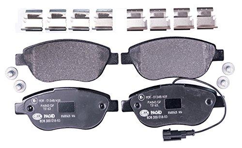 HELLA PAGID 8DB 355 018-831 Kit pastiglie freno, Freno a disco, Assale anteriore