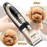 Oneisall Haustier Grooming Clipper Kits Geräuscharmer Haarschneidemaschine Hund und Katze wiederaufladbare drahtlose elektrische leise Tierhaarschneider - 6