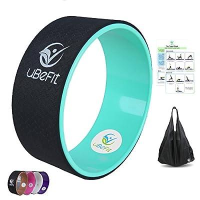 uBeFit Yoga Rad - Hilft Ihre Flexibilität zu verbessern und Stärke - bietet eine komfortable Unterstützung für Yoga-Haltungen und Backbends - Lindert Schmerzen und Stress in Ihrem Rücken, Brust, Hüften und Schultern - Enthält Position eGuideeguide