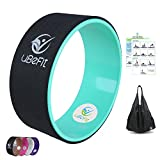 511CNN011bL. SL160  - BEST BUY #1 Yoga Wheel by uBeFit - Premium Yoga Exercise Prop For Stretching, Improving Your Flexibility and Strength and Releasing Muscle Tension - Provides Comfortable Support For Challenging Yoga Poses and Backbends - Relieves Pain and Stress In Your Back, Chest, Hips and Shoulders - FREE 13-pose Picture eGuide Included Reviews and price compare uk