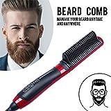 Desarabely Portable Fast Beard Pettine Da Barba Veloce Fast Beard Straightener Multifunzione Bigodino Per Capelli Monitor LCD Barba in Ceramica Pettine Sicuro Facile Da Usare