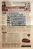 FIGARO ECONOMIE (LE) [No 20674] du 21/01/2011 - LE PATRIMOINE DES FRANCAIS A DOUBLE EN 10 ANS - POUZILHAC DISCULPE OCKRENT - ATR PLANCHE SUR UN NOUVEL AVION - L'ANNEE DU LAPIN TRES ATTENDUE A LA BOURSE DE HONG-KONG - LA SURCHAUFFE CHINOISE INQUIETE LES MARCHES MONDIAUX -CH. BALDELLI - LE SUCCES DE RTL - ESPIONNAGE / LES ZONE D'OMBRE EMBARRASSENT RENAULT - ENERGIE SOLAIRE / UN SECTEUR EN EBULLITION