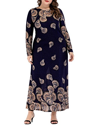 37b5d555020 Zhhlinyuan Mode und Qualität Muslims Womens Printed Elegant Formal Gown  Robe Dresses Islamic Moroccan Kaftan Caftan