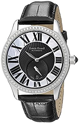 Louis Erard Women's 92310SE02.BDC02 Emotion Automatic Mother of Pearl and Black Dial Diamond Watch