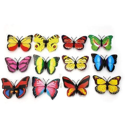 Pinzhi®Beautiful 12Pcs Butterfly 3D Fridge Magnets Home Room Wall Decor Decorations DIY