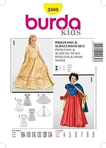 Burda B2480 Patron de Couture Princesse et Blanche-Neige 19 x 13 cm