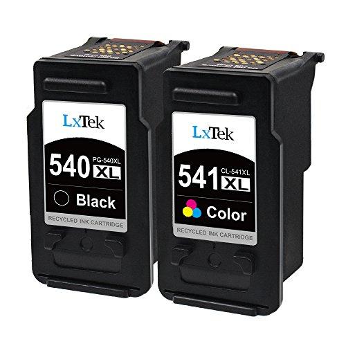 LxTek Wiederaufbereitete Druckerpatronen PG-540XL CL-541XL als Ersatz für Canon PG-540 CL-541 für Canon Pixma MG3650 MG4250 TS5150 MX475 MX535 MG3150 MG3250 MG3550 MG3600 MG4200 (1 Schwarz, 1 Farbe)