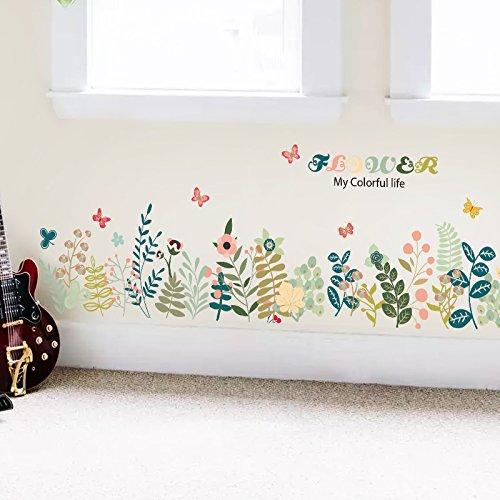 Aha yo-piantare fiori ed erba dì linea vita in linea muro camera dei bambini da salotto divano sfondo muro muro decorativo diy
