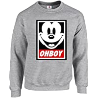 Graphic Impact Inspired Oh Boy Mickey Funny Mouse Cartoon Lovers Oh Boy Sweatshirt