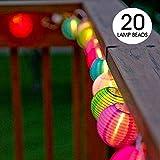 Samoleus Lanterne Boule Lumières IP65 Étanche Solar Powered Chinoises Noël String S'allume pour Extérieur, Patio, Jardin, Vacances, Fête, Mariage