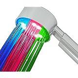Incutex LED Duschkopf Wellnessbrause Brausekopf mit Farbwechsel