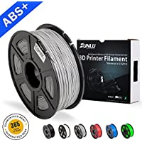 SUNLU ABS Filaments for 3D Printer-Grey ABS Filament 1.75 mm,Low Odor Dimensional Accuracy +/- 0.02 mm 3D Printing Filament,2.2 LBS (1KG) Spool 3D Printer Filament for 3D Printers & 3D Pens,Grey