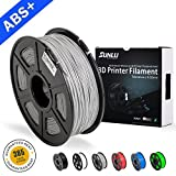 SUNLU ABS Plus 3D Printer Filament, ABS Filament 1.75 mm, 3D Printing filament Low Odor Dimensional Accuracy +/- 0.02 mm, 2.2 LBS (1KG) Spool,Grey ABS+