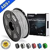 ABS-Filamente für 3D-Drucker-SUNLU Grau ABS-Filament 1,75 mm, geringer Geruch Dimensionsgenauigkeit +/- 0,02 mm 3D-Druck Filament, 2,2 LBS (1kg) Spool 3D-Drucker Filament für 3D-Drucker & 3D-Stifte, grau