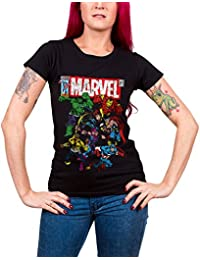 Officially Licensed Merchandise Marvel Comics - Team-Up Girly Tee