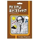 Michael Fish Retro Weather Fridge Magnets