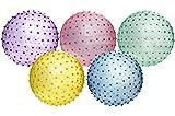 Lot de 3 - Balle de gymnastique à picots 46cm coloris assortis - Qualité COOLMINIPRIX®