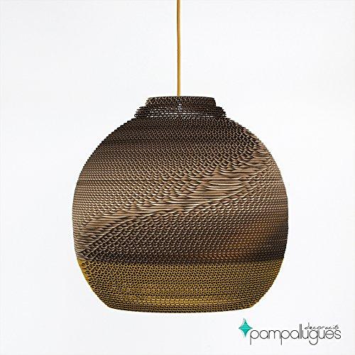 Oberon Mostaza - Lamparas de Carton - Lamparas de Techo