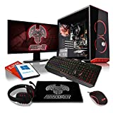 ADMI MBX-21 Gaming PC Package: Versatile Desktop Computer with 21.5 Inch 1080p Monitor