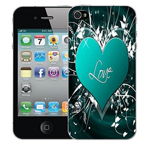 Mobile Case Mate iPhone 5 clip on Dur Coque couverture case cover Pare-chocs - blue hanging skull Motif avec Stylet blue love embrace
