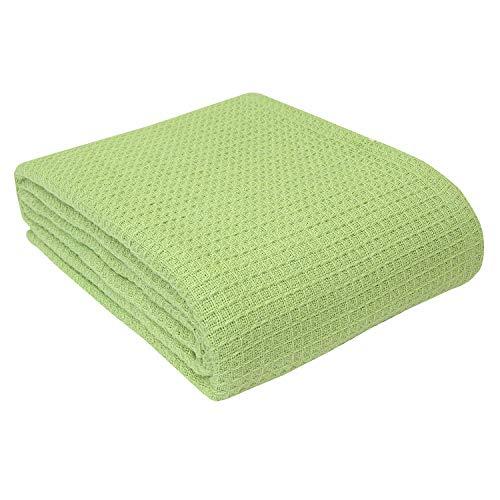 Homescapes waschbare Piqué Waffel Decke 180 x 230 cm Tagesdecke Überwurf Plaid aus 100%
