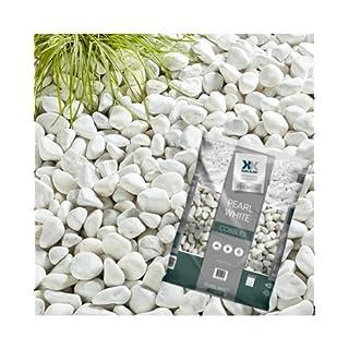 Kelkay Pearl White Cobbles Large Pack Large White Decorative Stones **By Online Garden Centre**