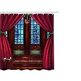 LSAltd 1 STÜCKE Weihnachten Vorhang Weihnachten Schneemann Druck Wasserdicht Polyester Badezimmer Duschvorhang Weihnachtsdekor Mit Haken 65x71 (K)