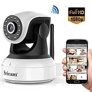 donde puedo comprar una micro camara: Sricam Cámara IP 1080P, Cámara Vigilancia WiFi Interior Inalámbrico, con Micrófo...