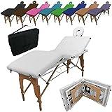 VIVEZEN ® Table de massage pliante 4 zones en bois avec panneau Reiki + accessoires et housse de transport - Neuf coloris - Norme CE