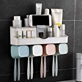 TYZAG Tooth Brush Holders for Bathroom, Toothbrush Holders, Toothbrush Holders for Bathroom Wall Mounted, Bathroom Racks and Shelves, Toothpaste Holder Wall Mounted