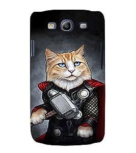 EPICCASE Superhero cat Mobile Back Case Cover For Samsung Galaxy S3 Neo (Designer Case)