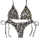 Keoly Bikini Leopardato,Bikini Push Up,Surf Bikini,Bikini Sexy 2pcs,Bikini Due Pezzi,Bikini Donna Brasiliana Costume da Bagno Donne Due Pezzi,Swimwear Beachwear,Bikini Plus,Bustier Bikini (M, A)