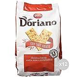 Doria Set 12 Crackers sacco salati rossi gr 700 snack salato