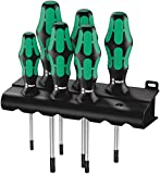 Wera 05028062001 Kraftform Plus 367/6 Torx Screwdriver Set, TX10 to TX40, 6-Piece