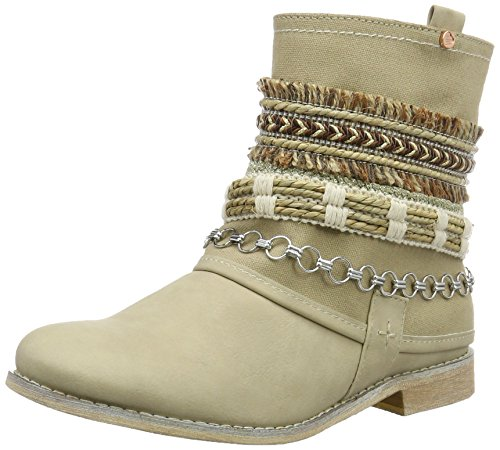 BULLBOXER Damen Ankle Biker Boots, Beige (Cream), 36 EU -