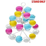 #8: Cupcake Stand for Birthdays and Other Occasions 4 Tier Cupcake Holder for 24 Cupcakes and Desserts By Kurtzy