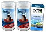 Chlorgranulat organisch - 2KG - schnell löslich - Aktivchlor mind. 56% - mit POWERHAUS24 Pflegefibel