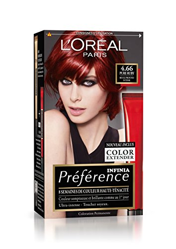prfrence loral paris coloration permanente 466 rouge profond intense - Coloration Rouge Permanente