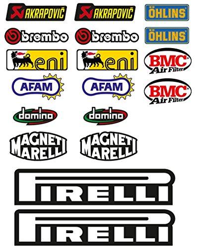 Kit de pegatinas, patrocinador técnico, para moto, 18 unidades - SBK, Honda,...