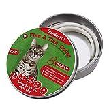 SCENEREAL Collier Anti-puces et tiques pour Chat 8 Mois de Protection réglable pour Chatons, Chiots et Petits Animaux domestiques