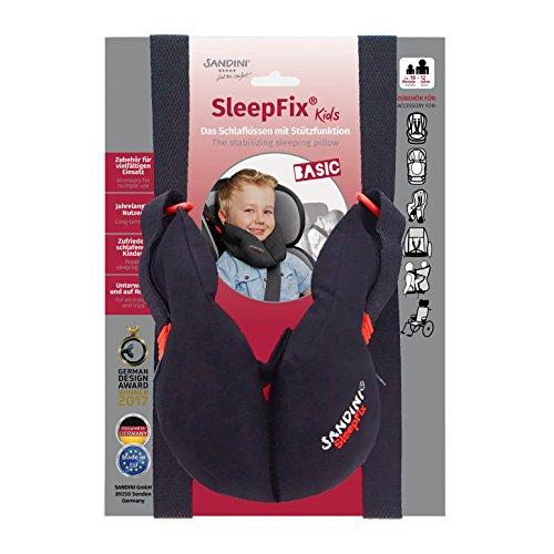 SANDINI SleepFix® Kids BASIC – Kinder Schlafkissen mit Stützfunktion – Kindersitz-Zubehör als BASIC Version für Auto/Fahrrad/Reise – Verhindert das Abkippen des Kopfes im Schlaf