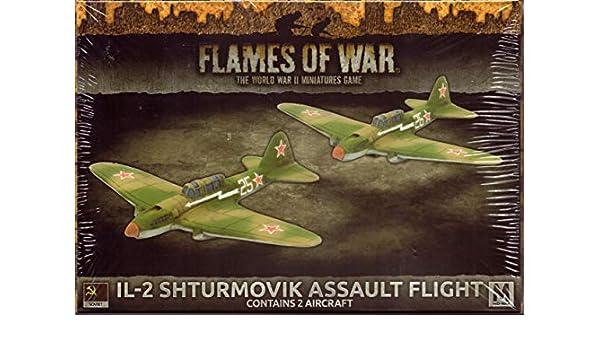 Unbekannt Flames of War Sovietische Armee Soviet IL-2 Shturmovik Assault Flight Flugzeug SBX53