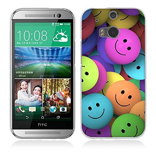One M8 / M8S Hülle Case, Fubaoda [Lächelnde Gesichter] Ultra-Clear HTC One M8 / M8S Case Silikon Soft TPU Premium Handyhülle Case Backcover Bumper Slim case für HTC One M8 / M8S