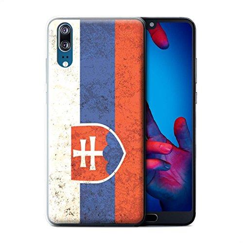 Stuff4® Hülle/Case für Huawei P20 / Slowakei/Slowakisch Muster/Flagge Kollektion