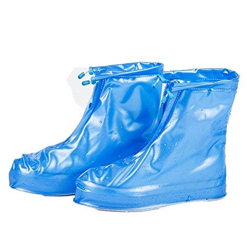 Lazzboy Unisex Shoe Covers Waterproof Solid Zip Travel Rain Snow Slip Boot Reusable Dust-Proof Protector