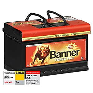 banner power bull car battery 12 v 72ah 660 a