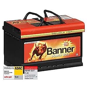 banner power bull autobatterie 12v 72ah 660a p7209 test. Black Bedroom Furniture Sets. Home Design Ideas