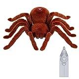 Goolsky Infrarrojos de control remoto de simulación RC peludo electrónica araña animal de juguete para niños regalo sorpresa de Halloween
