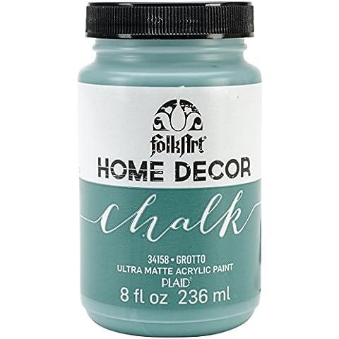 Plaid: Craft Folkart Home Decor Chalk Paint 8 Oz-Grotto
