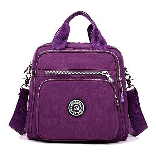 TianHengYi ,  Damen Tasche , Violett - violett - Größe: Medium (Medium Nylon-tasche)